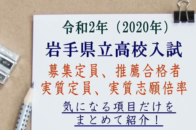 県 公立 2021 倍率 岩手 高校 入試