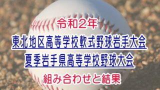 令和2年夏季岩手県高等学校野球大会