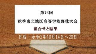 第73回秋季東北地区高等学校野球大会
